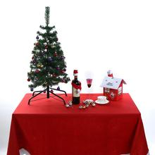 Red Christmas Table Cloth Placements Home Decor 212x136cm Christmas Atmosphere Tablecloth Party Decoration(China)