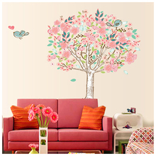 Practical Bird Flower Tree Removable Vinyl Wall Sticker Home Decor Decals Art Wall Stickers Kids Room Sofa Wall Decoration