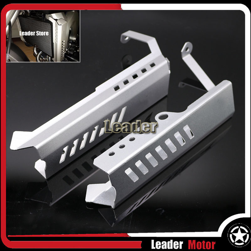 For Yamaha MT09 FZ09 MT-09 FZ-09 2013-2016 Motorcycle CNC Accessories Aluminum Radiator Grille Side Cover Guard Protector Silver<br>