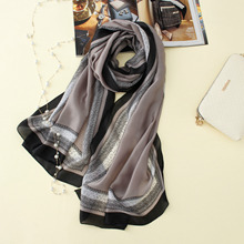 2017 new brand women scarf fashion summer soft print long size shawls silk scarves lady pashmina bandanas 190*80cm