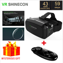 Vrbox Shinecon Virtual Reality Lunette 3D Glasses Google Cardboard 2.0 Goggles VR Box Remote Gamepad for iPhone Samsung Android
