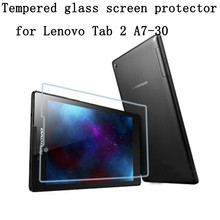 Tempered Glass Screen Protector for Lenovo Tab 2 A7-30 A7 30 A7-30HC A7-30LC A7-30DC + Alcohol Cloth + Dust Absorber