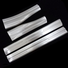 Stainless Steel Built-in Door Sills Scuff Plates Guard Threshold Strip Plate Welcome Pedal Decals For Mercedes Benz GLA X156