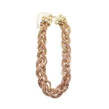 Free shipping Fashion jewelry Wholesale gift Fashion simple and simple linen, gold chain | necklace(China)
