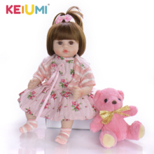 Girl Doll Toy Long-Hair Realistic Baby Children Bonecas Playmate Soft Princess for Charming