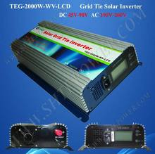 DC 45-90v to AC 220v 230v 240v grid tie 2000w micro control home solar power inverter(China)