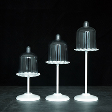 Holiday celebration & wedding cupcake display stand, White metal cake decoration stand Baking tools(China)