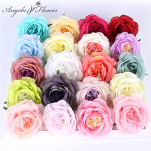 European artificial rose peony decorative flower heads silk flower hotel background wall decor Road led wedding decoration home(China)