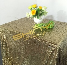 50''*72'' Black Light Gold Sequin Table Linen, Light Gold Sequine Tablecloth, Wholesale Sequin Table Cloth Decoration