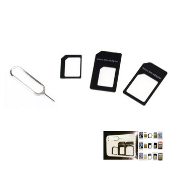 REXLIS New Convert SIM Card For iPhone 5 nano sets Full sim card adapter for phone SJ
