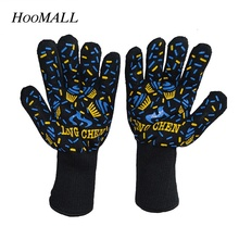Hoomall 1 Pc Heat Resistant Barbecue Oven Mitt Glove Kitchen BBQ Grill Cooking Tool Accessories Hot Surface Handler(China)