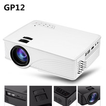GP12 GP-12 Portable Mini LED Projector 2000 Lumens Home Cinema Theater Full HD 3D 1080P Video Home Theater Projector PK GP9 GP-9(China)