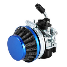 Red/Blue Color Motorized Bike Racing Carb Carburetor+Air Filter Set 50 80 cc 2 stroke Gas Bicycle