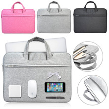 "Ultra thin Nylon Laptop Sleeve Bag Case Pouch Case For Apple Macbook Air Pro 11"" 13"" Solid Laptop Liner Sleeve Bag For Notebook(China)"