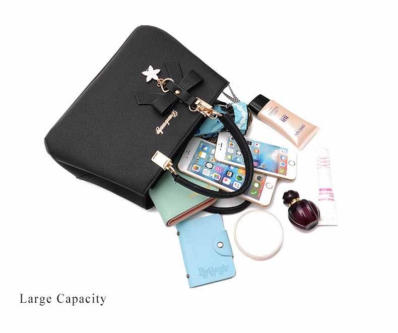 WENYUJH New 18 Elegant Shoulder Bag Women Designer Luxury Handbags Women Bags Plum Bow Sweet Messenger Crossbody Bag for Women 15