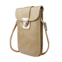 PU Leather Crossbody Single Shoulder Bag Cellphone Pouch/Purse for iPhone,Samsung,LG and Other Smartphones