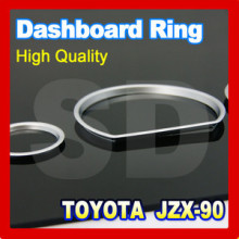 DASH Free shipping for Toyota JZX 90 Chaser 1992 1996 Silver Cluster Gauge DASH board Rings
