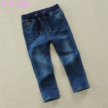 Children Jeans Pants 2017 Spring/Autumn Fashion Kids Casual Elastic Waist Trousers For Boys 2-13 Years Old High-Quality Clt040