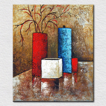 Wholesale fine quality canvas prints abstract art painting flowers as fine still life for hotel decor free shipping