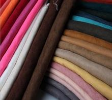 Solid Suede Fabric For Clothing Garment Soft Poly Micro Suede Material Bags Shoes Sofa Cover Cloth Tecido Meter(China)