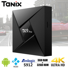 Buy TX9 Pro Smart TV Box Android 7.1 Amlogic S912 Qcta core 2.4GHz WiFi 3GB 32GB Bluetooth 4.1 4K HD Media Player H.265 Kodi TV Box for $37.50 in AliExpress store