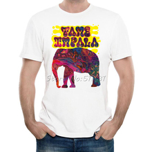 Newest 2017 Fashion Colorful Tame Impala Elephant T Shirt Men/Boy Music Rock T-Shirt Summer High Quality Short Sleeve Tops Tee