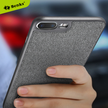 Buy Benks Magnetic Holder Case apple iphone 7 7plus 8 8plus seven eight plus built-in metal plate PC+denim hard back cover for $9.89 in AliExpress store