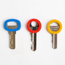 Mix 8pcs/lot Hollow Multi Color Rubber Soft Key Locks Keys Cap Key Covers Topper Keyring