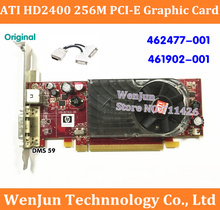 High Quality for HP 462477-001  461902-001  ATI HD2400 256M 64bit PCI-E Video Graphic Card with DMS 59 to 2*DVI cable