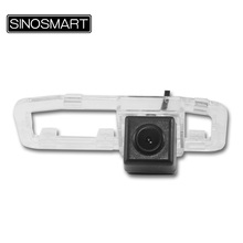 SINOSMART In Stock Car Rear View Reversing Parking Backup Camera for Kia RIO Firm Installation in Number Plate Light Hole