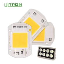 ULTRON LIGHTING LED COB Chip 50W 40W 30W 20W 10W AC 220V 110V No need driver Smart IC bulb lamp For DIY LED Floodlight Spotlight