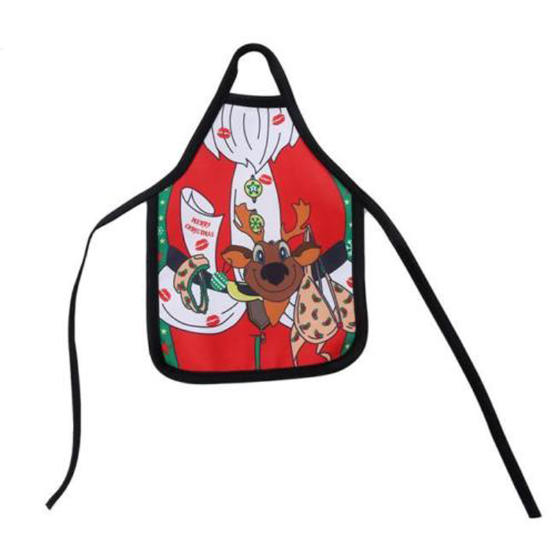 Newest Christmas Santa Wine Bottle Apron Wrap Cover Xmas Dinner Party Table Decor