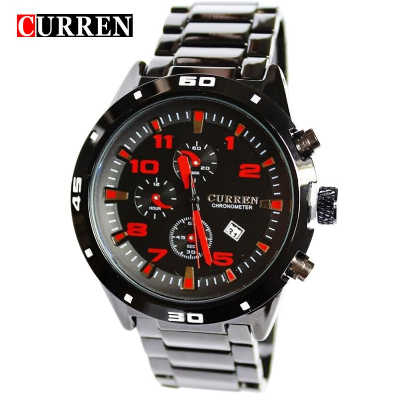 8021 Curren Sport Quartz Hours Date Display Mens Clock Mens Fashion Stainless Steel Watch Male Casual Wristwatch 2 COlors <br>