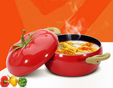 Hot Vegetables Modeling Non Stick Pot Lovely Style Tomato Pot Cookware Kitchen Cooking Pot Soup(China)