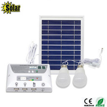 2016NEW multi-function Solar Mobile Lighting System Home outdoors Camping Tent Eemergency Charging Mobile Phone+2LED Bulbs(China)