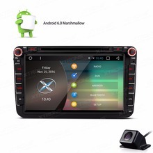 XTRONS 8 inch 2 din Android 6.0 Quad Core head unit Car DVD Player GPS for vw Vento Tiguan EOS/SEAT/SKODA Fabia+Reversing Camera