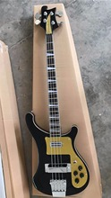 Wholesale New Rick. 4 string 4003 electric bass guitar ebony fingerboard in black 170302(China)