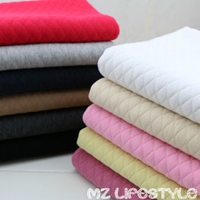 Hot sale 100*150cm thick warm baby Cotton knitted fabric by meter baby cotton quilting  baby clothing making fabric