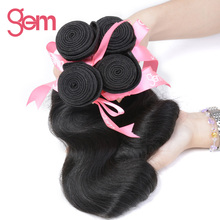 Peruvian Remy Hair Body Wave Human Hair Weaving Bundles Natural Color Gem Beauty Hair Company 1 Piece Only Free Shipping