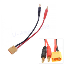 1pcs RC Battery Charge XT60 to 4.0mm Banana Plug 16AWG 15cm Cable Connector for RC Helicopter Quadcopter Lipo Battery(China)