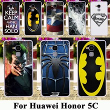 "soft tpu hard plastic Cases For Huawei Honor 5C GT3 Honor 7 Lite Honor5C Honor7 Lite 5.2"" Cases Batman Superman Captain American"