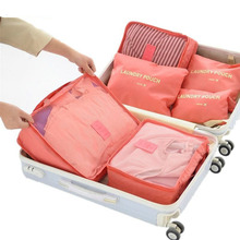 New 6pcs/set Women Travel Storage Bag High Capacity Luggage Clothes Tidy Organizer Pouch Portable Waterproof Storage Case(China)