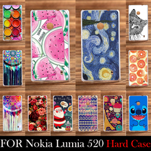For Nokia Lumia 520 N520 Case Hard Plastic Cellphone Mask Case Protective Cover Housing Skin Shippin g Free