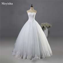 ZJ9014 2016 fashion Beads Crystal White Ivory Wedding Dresses for brides plus size formal sweetheart 2/4/6/8/10/12/14/16/18/20(China)