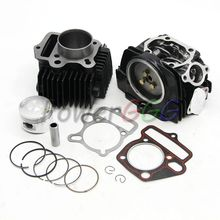 LIFAN 125 125CC Black  Engine Cylinder  Cylinder cover  kit with gasket  Fit  For Lifan125 engine parts