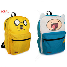 Students Backpack Adventure Time Bag Girls School Bags for Teenagers  Double Sided Cartoon boys Schoolbag satchel Knapsack