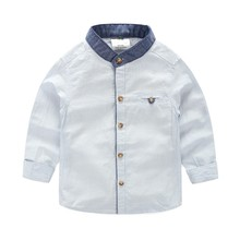 New Spring Striped Boys Mandarin Collar Shirt Good Quality Children Shirt Chemise Enfant Boys Shirts 6BL015(China)