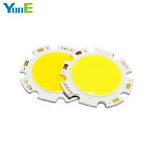 YooE 10Pcs/lots 3W 5W 7W 10W 12W Round COB LED SMD Chip High Power Lights Lamp Bulb Warm/Cold White(China)