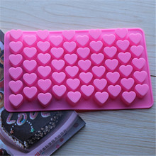 FoodyMine 55 Holes Mini Heart Silicone Cake Mold Baking Mould Chocolate Decoration Silicone DIY Heart Shape Mold Cake