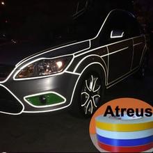 Car styling Accessories 1cm*5m Reflective Tape Styling Rim Wheel Sticker Bmw Audi Mercedes VW Opel Kia Toyota Honda Nissan
